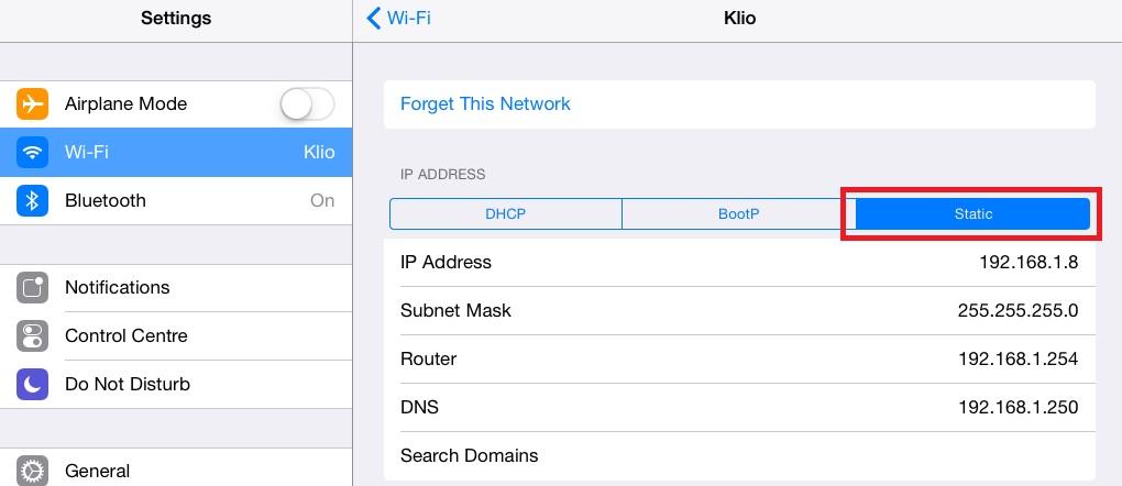iPad Wireless Network 2